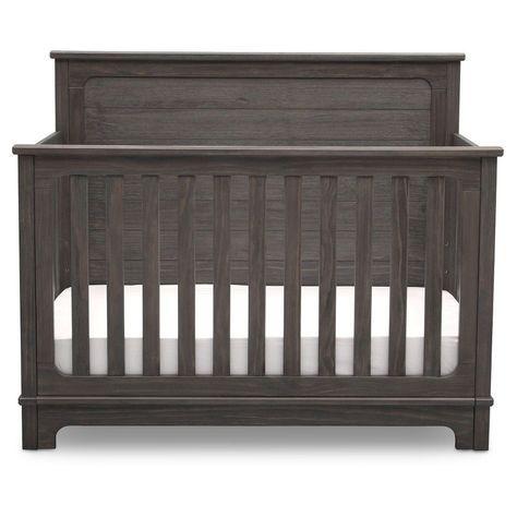 Simmons Kids Slumbertime Monterey 4-in-1 Convertible Crib - Rustic Grey