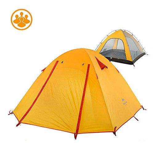 Naturehike 234 Person Outdoor Double Layer Tent Rainproof Windproof Camping  TentOrange4 Person     Click image for more details. (This is an affiliate  link ... 86bc235f04