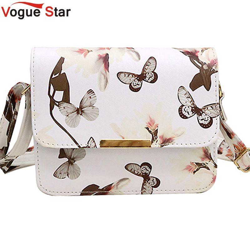 ec4da82cfaab Vogue Star Spring new elegant quality pu leather handbag women bag spray  daffodil butterfly stamp sweet girl little square LS459
