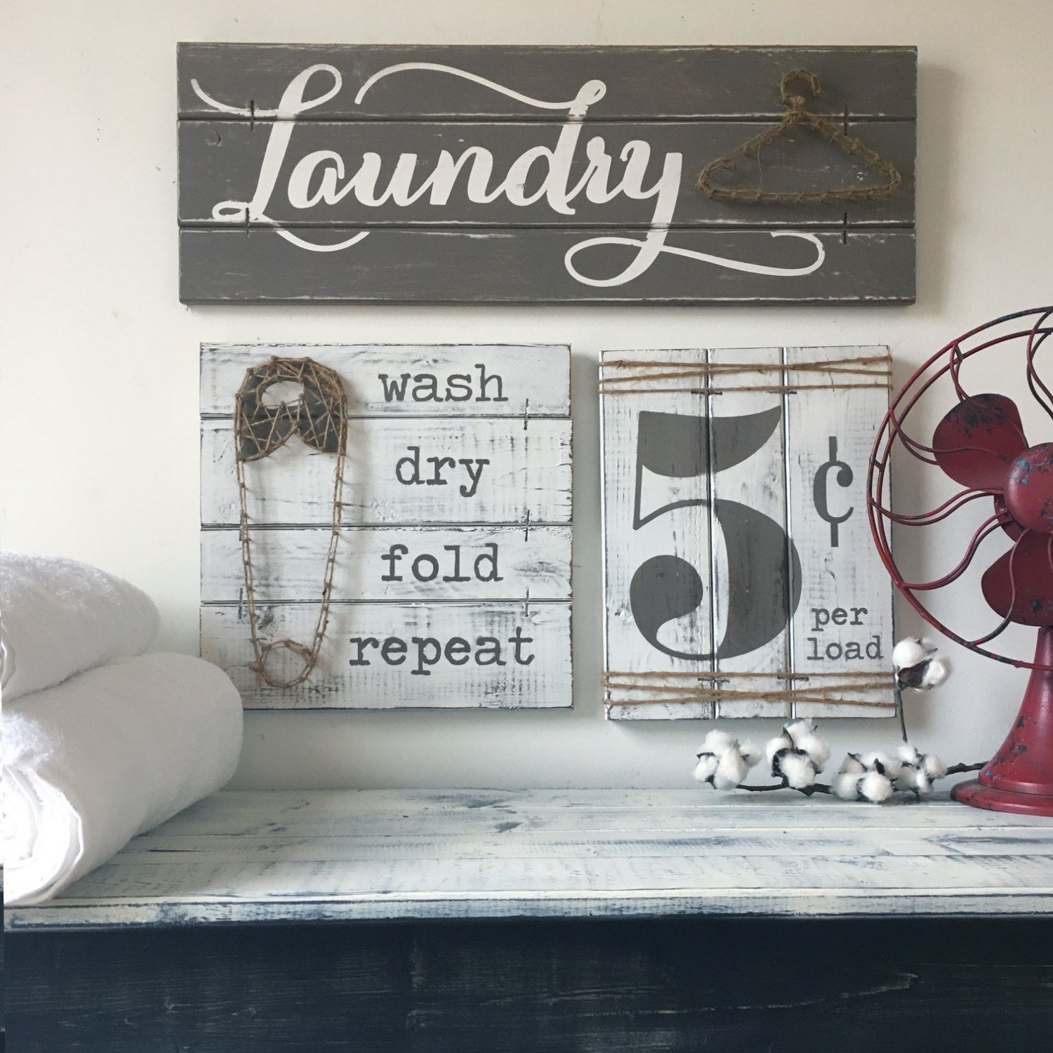 Laundry Sign Set Laundry Room Decor Laundry Room Decor Signs