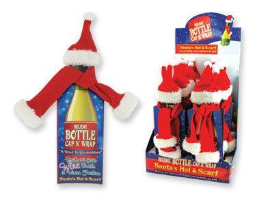 Christmas Wine Bottle Scarf/Hat