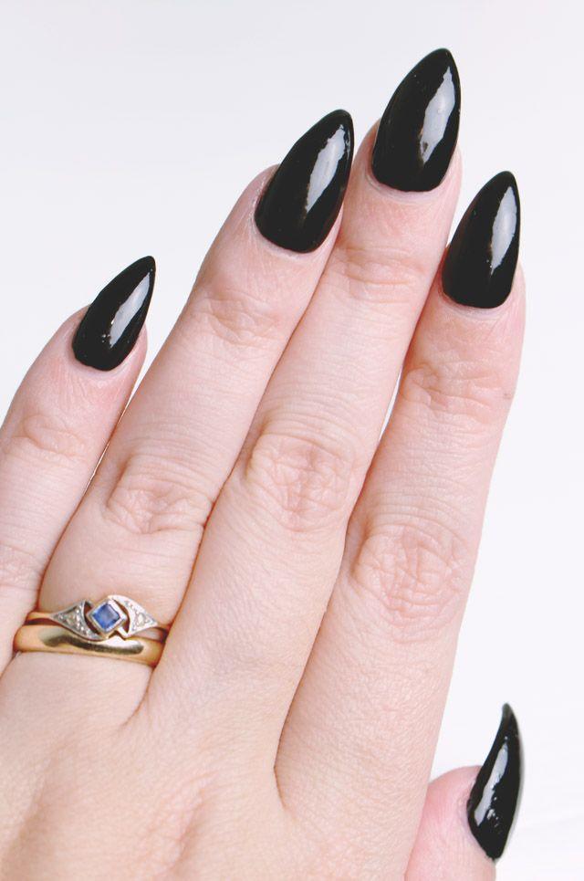 Halloween Nails // China Glaze Liquid Leather | Halloween ...