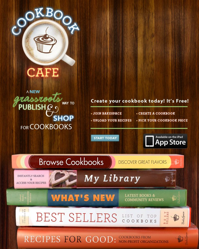 create publish virtual cookbooks for free via bakespace great for