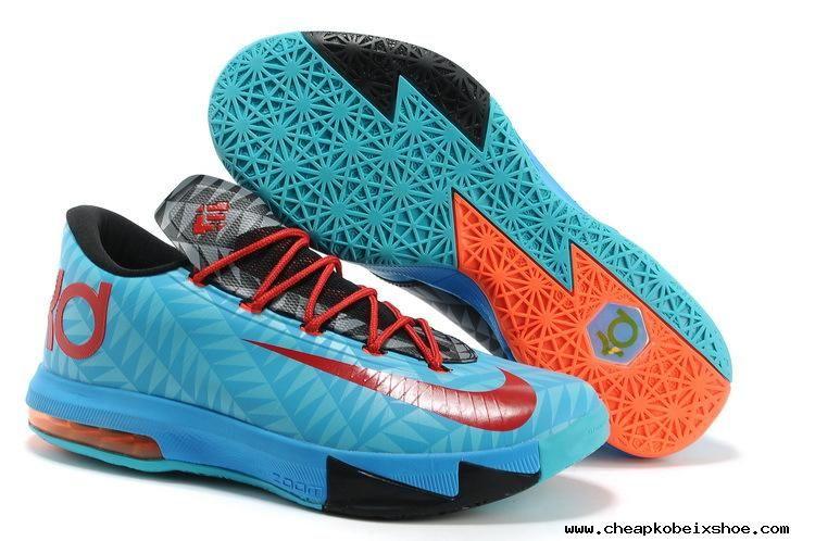 los angeles cdef4 7d089 For Sale Nike KD VI N7 Aqua Blue Red-Black-Orange