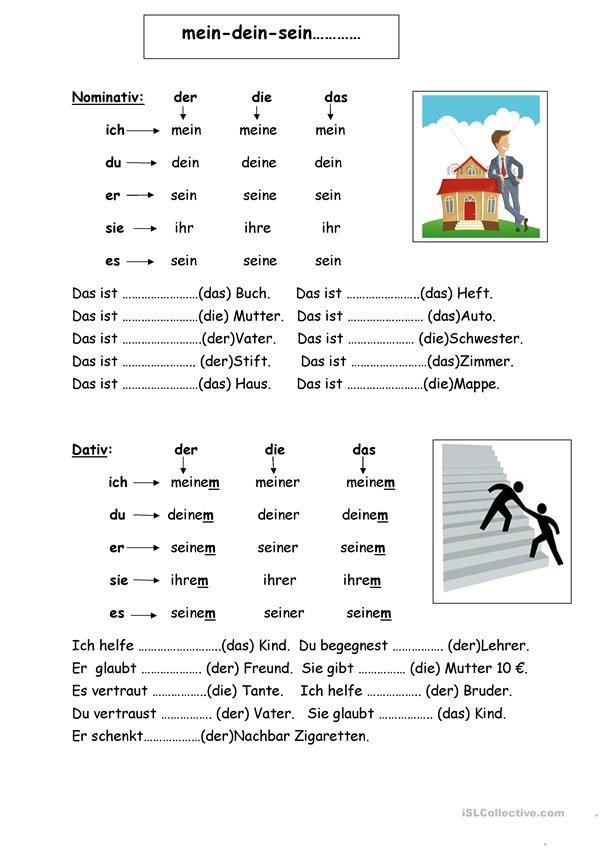 mein-dein-sein | German, German language and Language