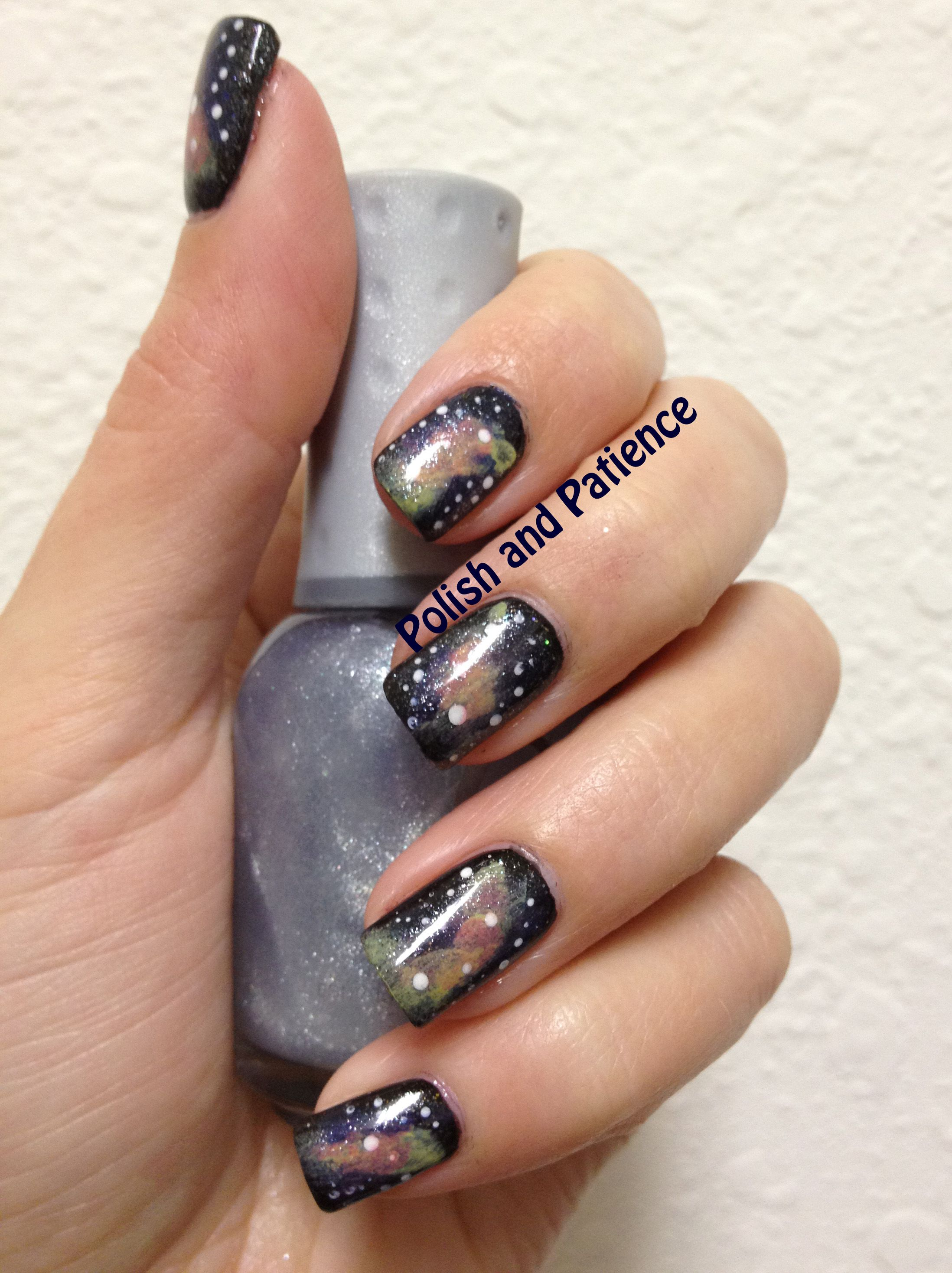 Galaxy nails tutorial presented by Polish and Patience - www ...