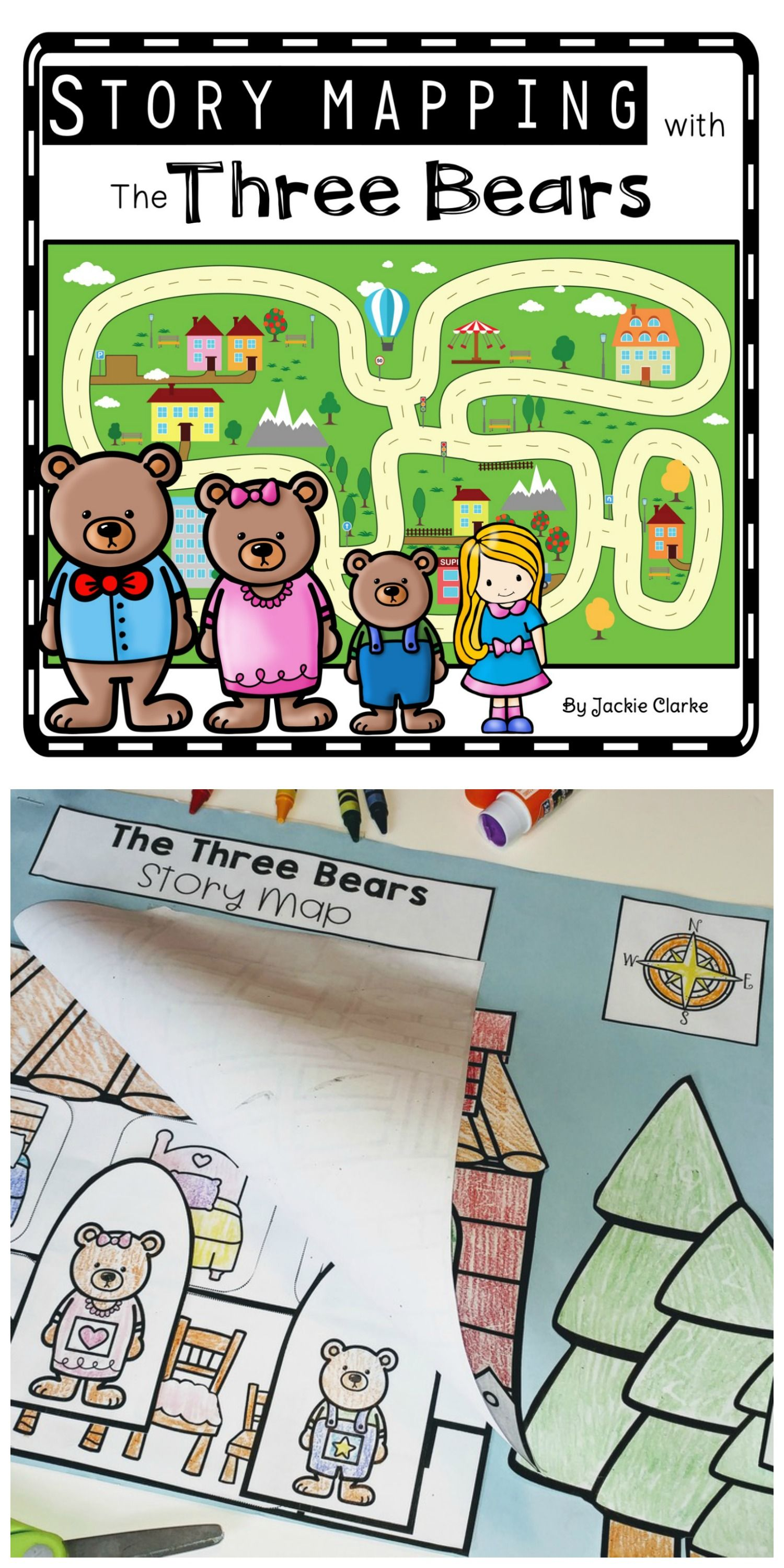 Fairy Tale Story Maps The Three Bears Story Elements And