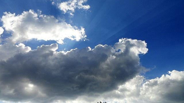 cielo, azul, nube, nubes, sun
