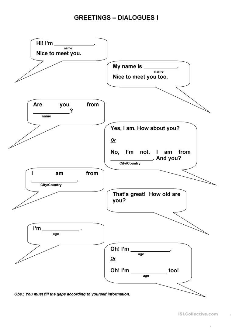 Greetings Dialogues English Learning For Kids Pinterest
