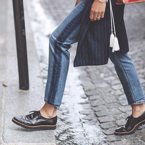 "139 Likes, 5 Comments - REIKO - Art of Pants (@reikojeans) on Instagram: ""👖S t r i p e | @babiolesdezoe porte le boyfriend Nina Denim Stripes #boyfriend #denim #jeans…"""