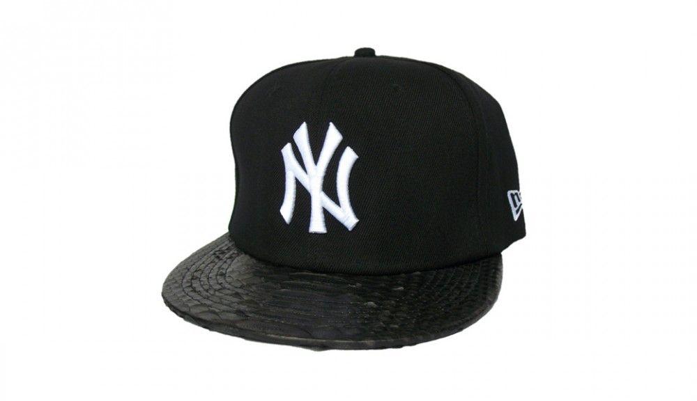 1 left ! New Era Custom Black Snakeskin New York Strapback Hat ... d722092cbf9