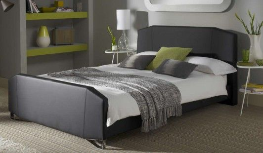 Ziggy Black Faux Leather Bed Frame   Benson For Beds