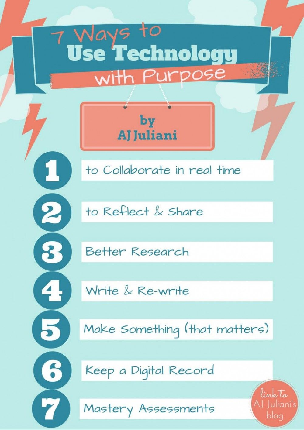 7 Ways Teachers Can Use Technology With Purpose Infographic E Learning Infographics Instructional Technology Educational Infographic Educational Technology