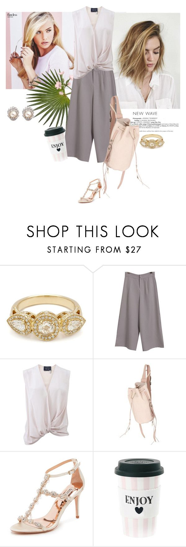 """""""New Wave"""" by rever-de-paris ❤ liked on Polyvore featuring Chicnova Fashion, Lanvin, Barbara Bonner, Badgley Mischka, CZ by Kenneth Jay Lane, pastels, SpringStyle, fashionset and polyvoreeditorial"""
