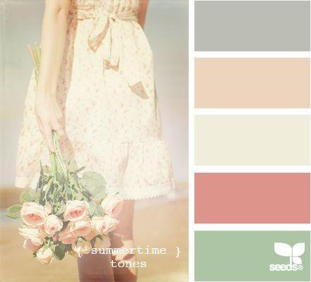 de colores paleta colores colores paredes paletas verano casa hogar femeninas da