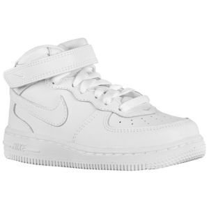 Nike Air Force 1 Mid Boys Toddler Basketball Shoes White