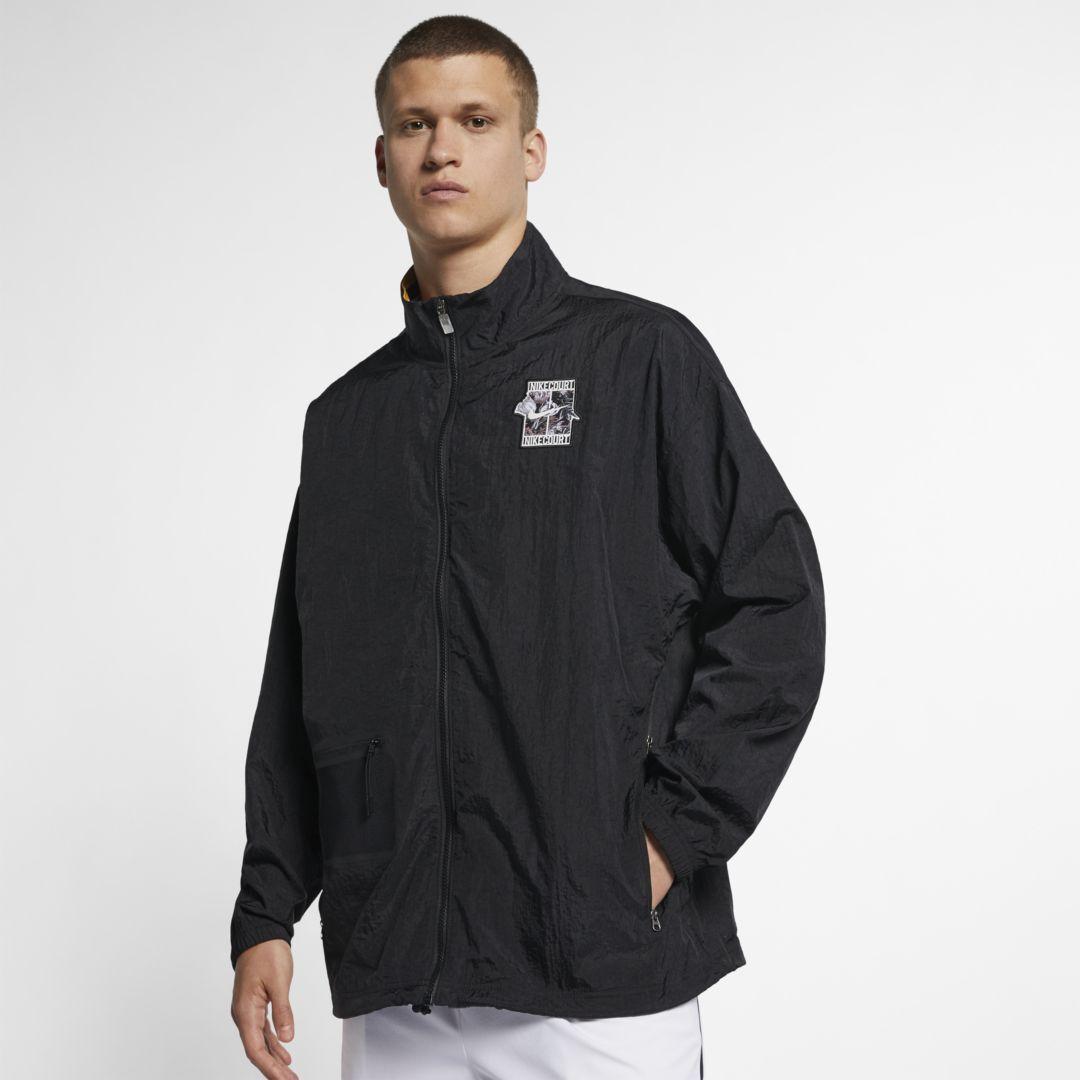 Nike Men S Court Dri Fit Baseline Tennis Jacket Reviews Coats Jackets Men Macy S Tennis Clothes Nike Men Mens Outdoor Jackets