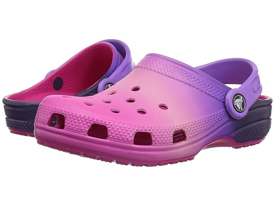 6e4770699f Crocs Kids Classic Ombre Clog (Toddler/Little Kid) Kids Shoes Pink Ombre