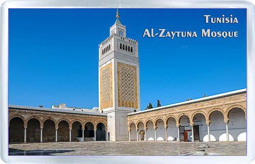 Acrylic Fridge Magnet Tunisia Al Zaytuna Mosque Mosque Tunisia Tunis