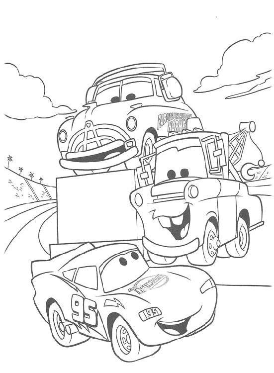 Kolorowanki Z Bajki Auta Cars Dla Dzieci Do Wydruku Party Cars