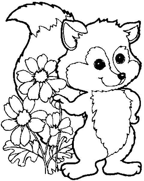 malvorlagen tiere wald 1  animals art character