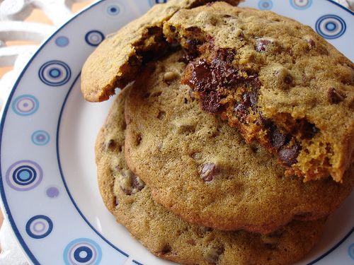 Technicolor Kitchen: Cookies recheados com gotas de chocolate