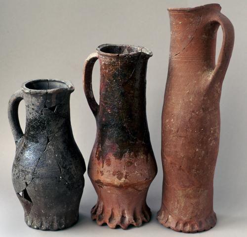 Medieval jugs Bayham Abby