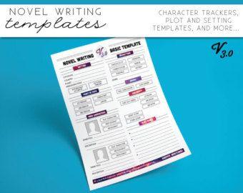 novel writing templates v2 by asmallbirdorganizes on etsy writers
