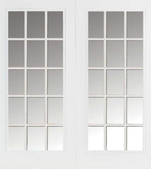 15 Lite Exterior Grid French Doors Fiberglass Patio Doors Patio Doors Glass Doors Patio