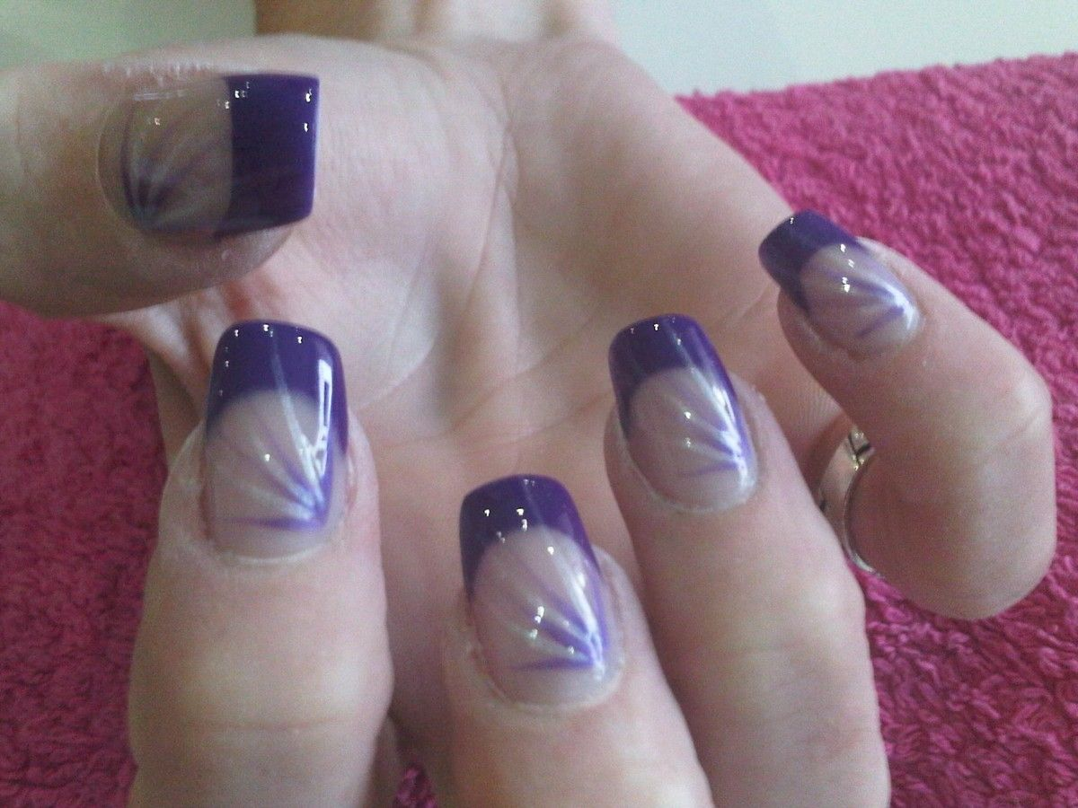 Nail Art Pictures Gallery Design 2017 Purple Tipped Ideas