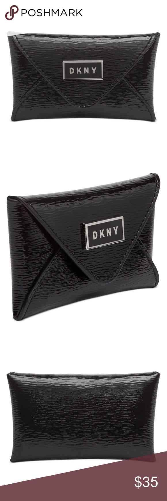 DKNY Gigi leather envelope card wallet
