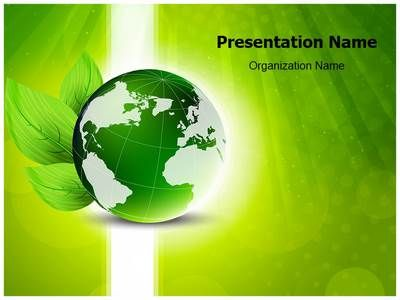Green Globe Powerpoint Template Is One Of The Best Powerpoint