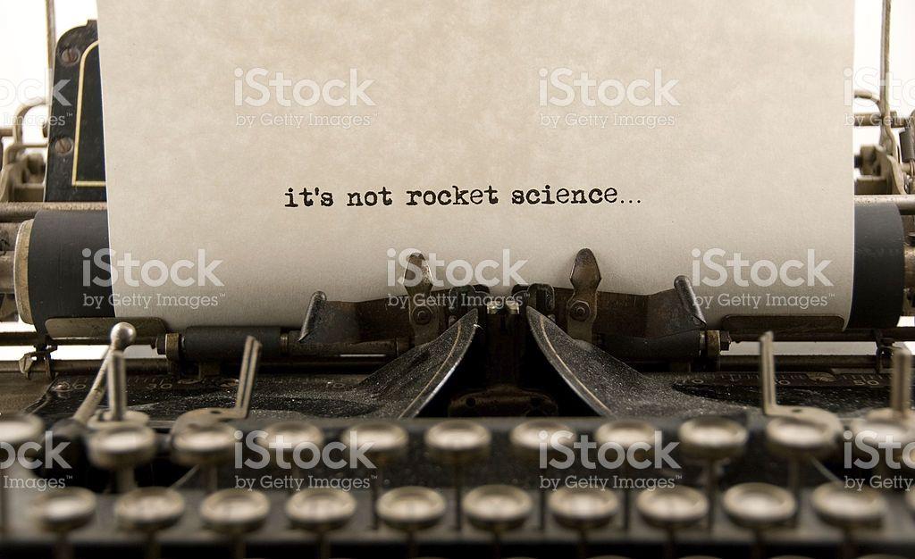Não Foguete ciência. foto de stock royalty-free