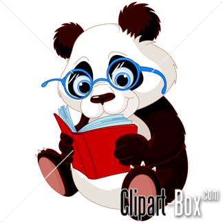 Clipart Panda With Book Royalty Free Vector Design Panda Art Panda Artwork Cute Panda