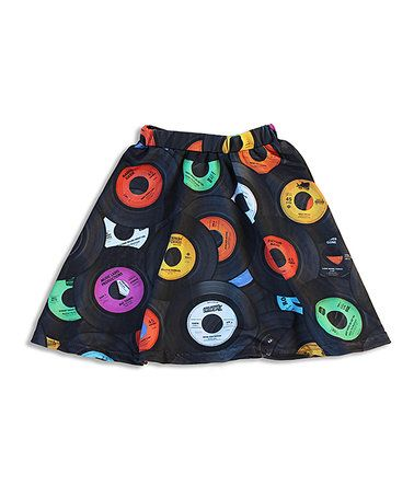 Purple Record Skater Skirt - Toddler & Girls #zulily #zulilyfinds
