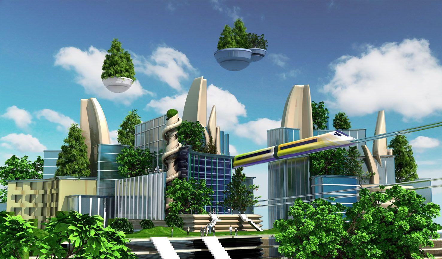 Pingl par elixir sur 2030 pinterest ville imaginaire for Architecture futuriste ecologique