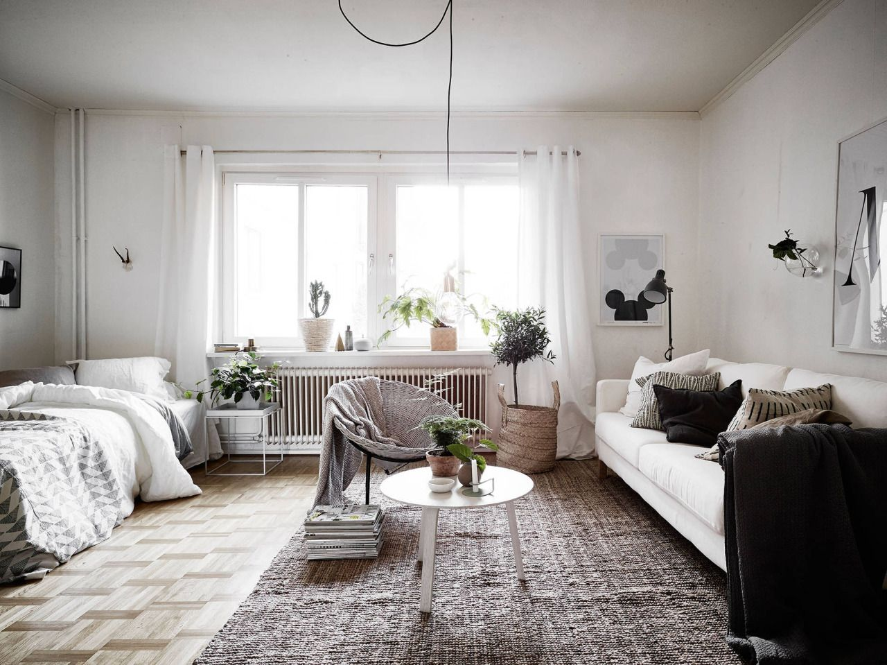 Gravity Home How To Divide A Studio Apartment By Using Rugs