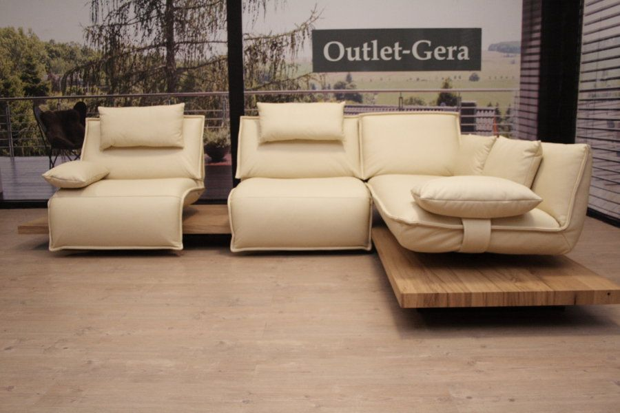 Koinor Modell Edit 2 Eckgarnitur C I2 In Leder Creme Outlet In 2020 Modell 2er Sofa Gera