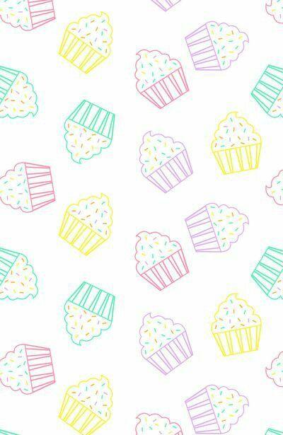 Kawaii Kawaii Background Cute Girly Muffins Tumblr Fancy Perf Pastel Cupcakes Wallpaper Kawaii Wallpaper Pretty Wallpapers