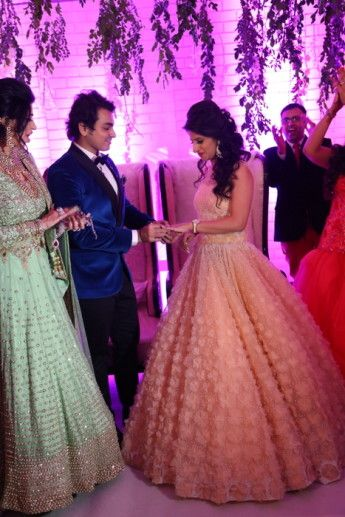 Romantic engagement in Delhi | Long evening dresses | Pinterest ...