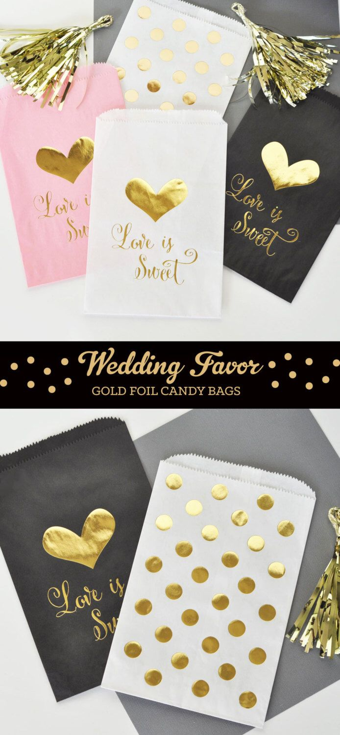 Paper Candy Bags - Wedding Favor Candy Bags - Wedding Candy Buffet ...
