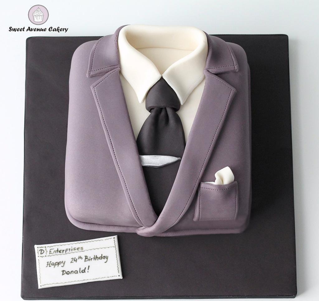 Happy Birthday Man Suite Cake