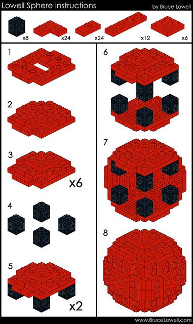 Lowell Sphere Instructions Lego Legos And Lego Creations