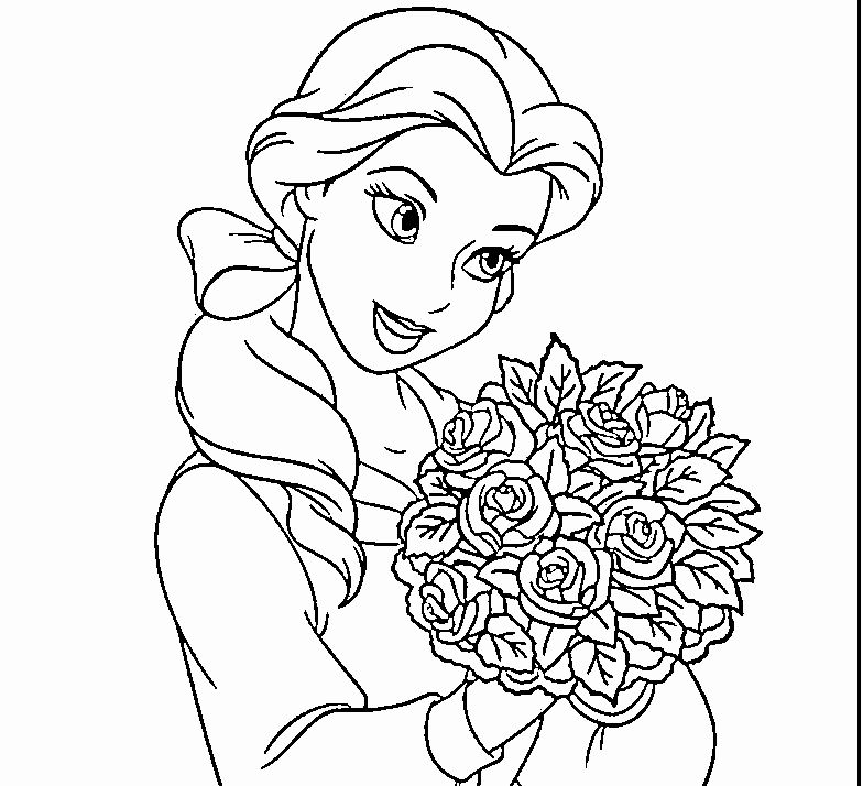 Princess Belle Coloring Pages Printable You'll Love