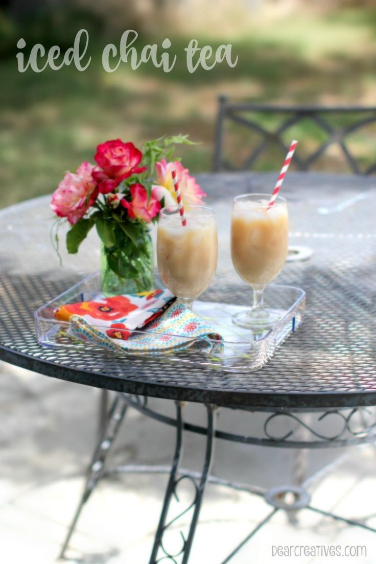 How to make an iced chai tea latte