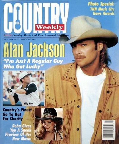 Alan S Very First Country Weekly Cover Alan Jackson Jackson