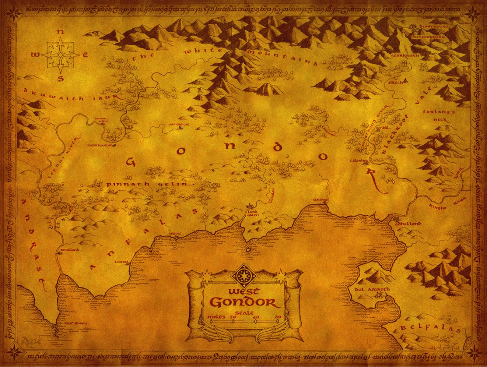 Did Maps In Middle Earth Have West: Lord Of The Rings, Middle