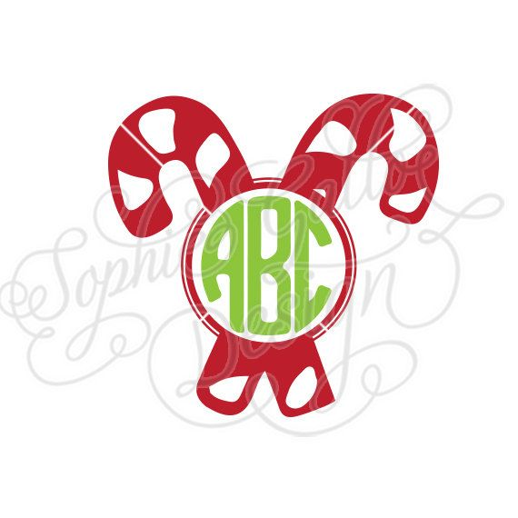 candy cane christmas monogram svg dxf digital download file rh pinterest com dxf clip art of hands dxf clipart files us states