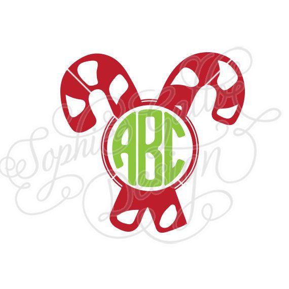 candy cane christmas monogram svg dxf digital download file rh pinterest com dxf clip art free downloads apple dxf clip art for sale