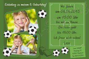Photo of Invitation cards children's birthday football: Invitation cards children's birthday …